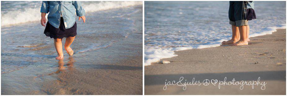 Tiny toes in the sands of Lavallette Beach, NJ by JacnJules