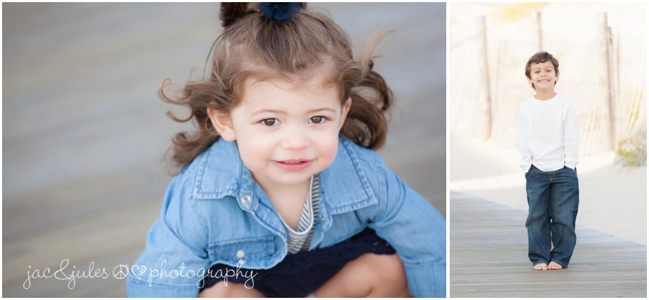 Beautiful close-up of a beautiful little girl in Lavallette Beach, NJ
