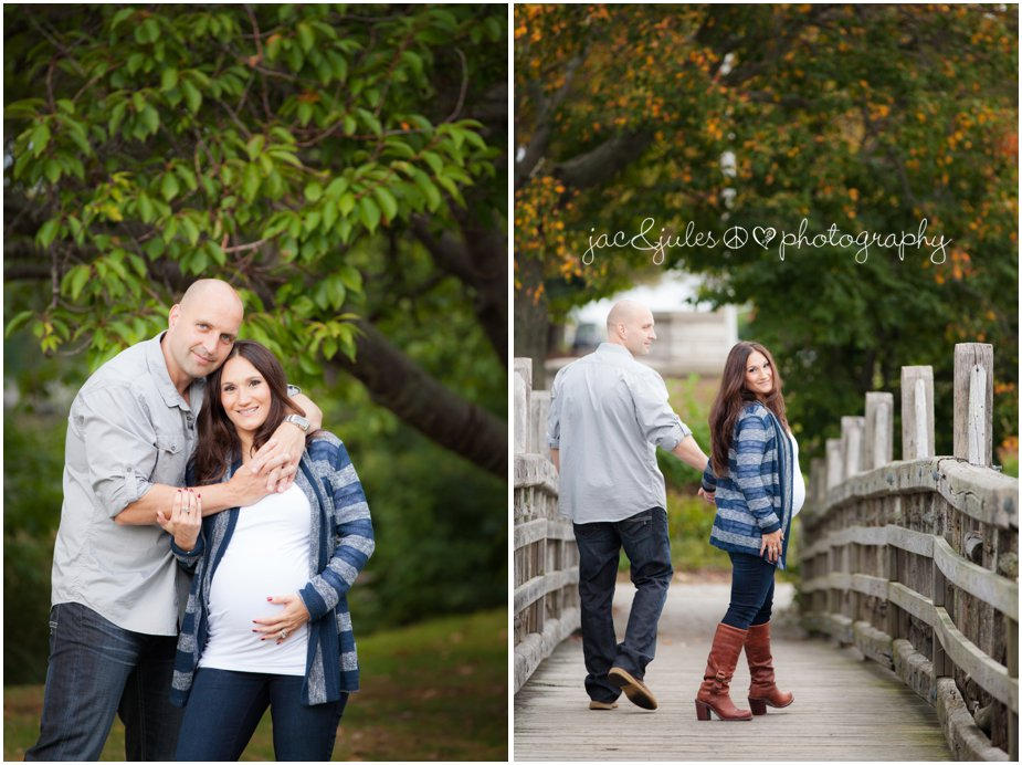A couple's maternity photos taken in beautiful Spring Lake, NJ by JacnJules