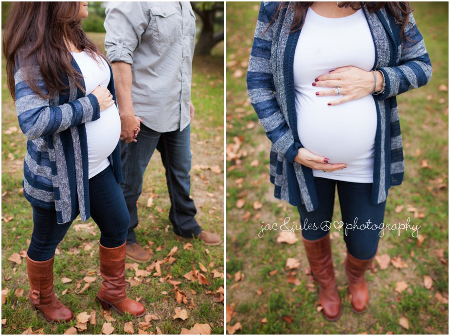 Photographs taken in Spring Lake, NJ of an expecting couple by JacnJules