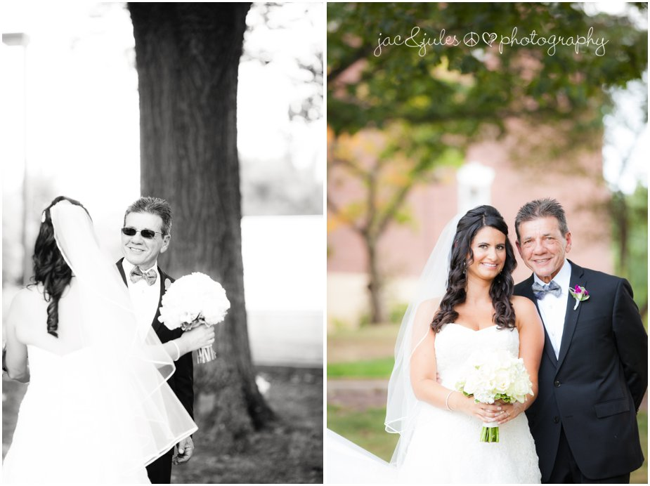 wedding photos with bride and her dad at passion puddle in new brunswick nj by jacnjules