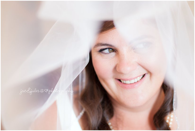 Beautiful bride through the veil photographed by JacnJules at the Mansion at Bretton Woods in Morristown, NJ