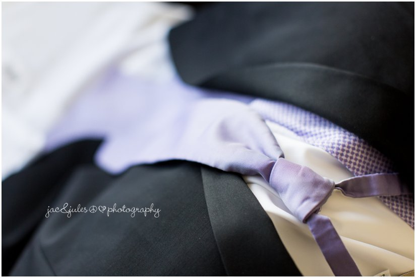 Detail photo of grooms tie at the Mansion at Bretton Woods in Morristown, NJ by JacnJules
