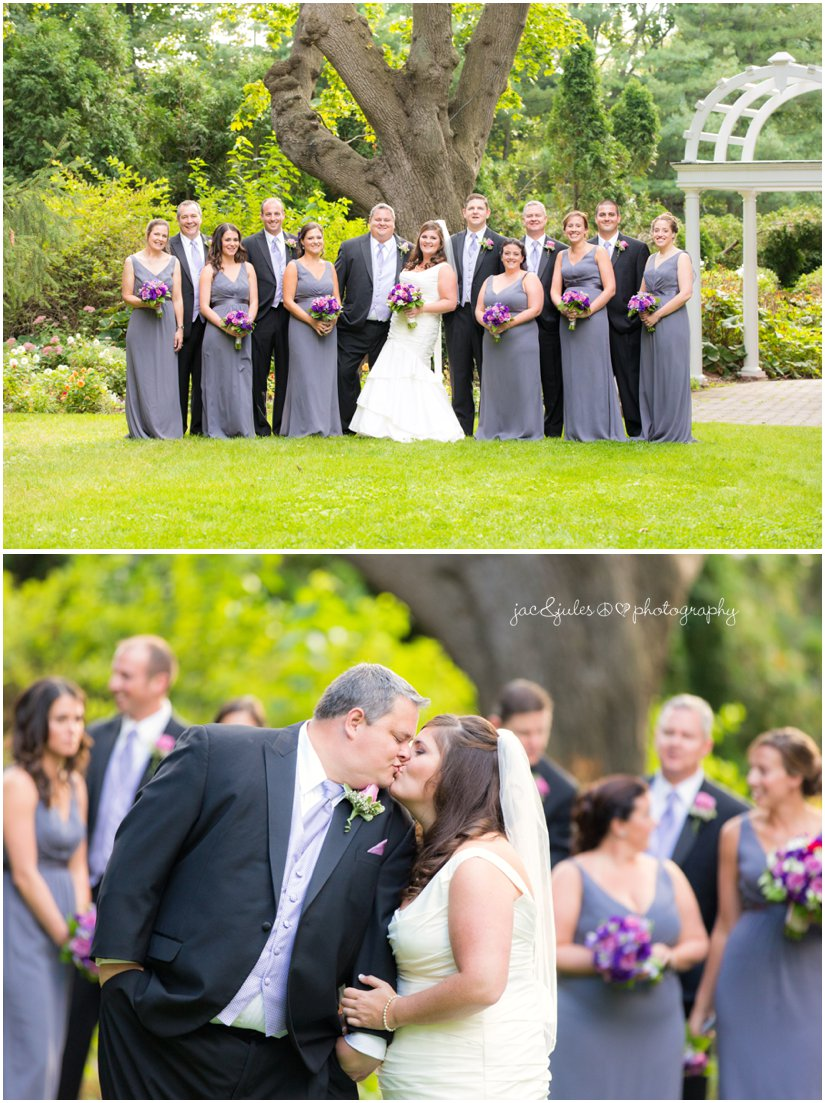 Bridal party photographed at the Mansion at Bretton Woods in Morristown, NJ by JacnJules
