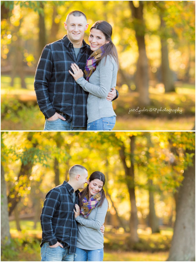 Beautiful engagement photo taken at Allaire State Park in NJ by JacnJules