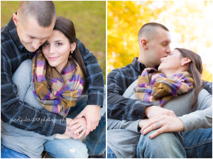 Fall engagement photographed by JacnJules in NJ at Allaire State Park