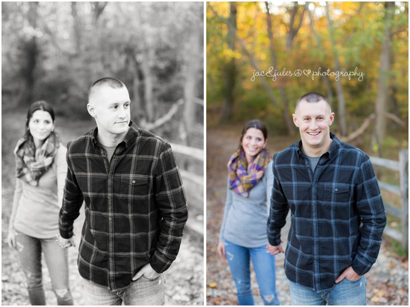 Modern engagement photo by JacnJules taken at Allaire State Park in NJ