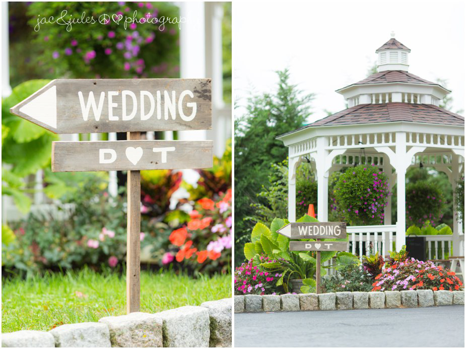 Entrance to wedding at Frogbridge in Millville, NJ by JacnJules
