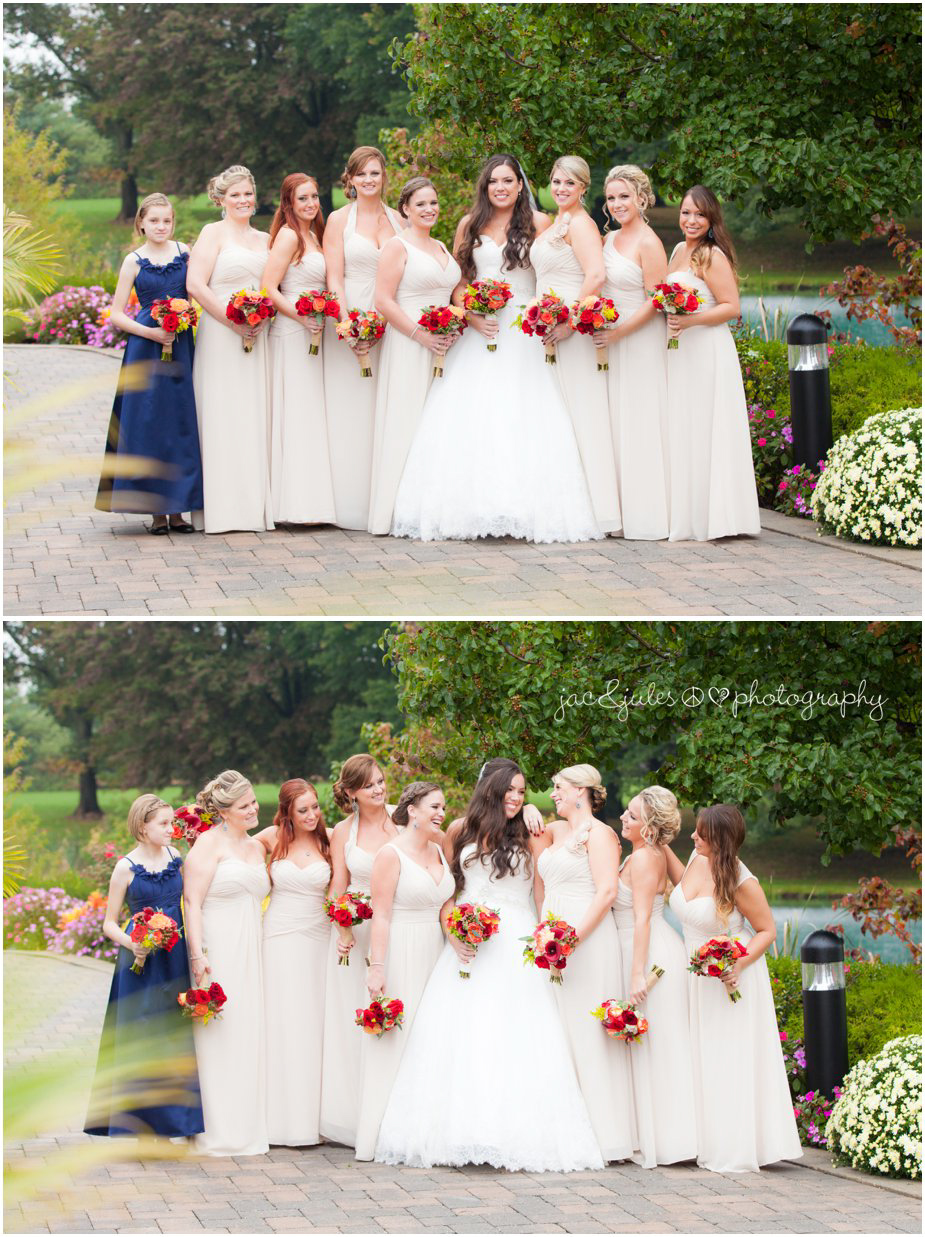 The bride and her bridesmaids at Frogbridge in Millville, NJ by JacnJules