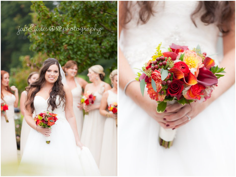 gorgeous fall wedding bouquet photographed by JacnJules at Frogbridge in Millville, NJ