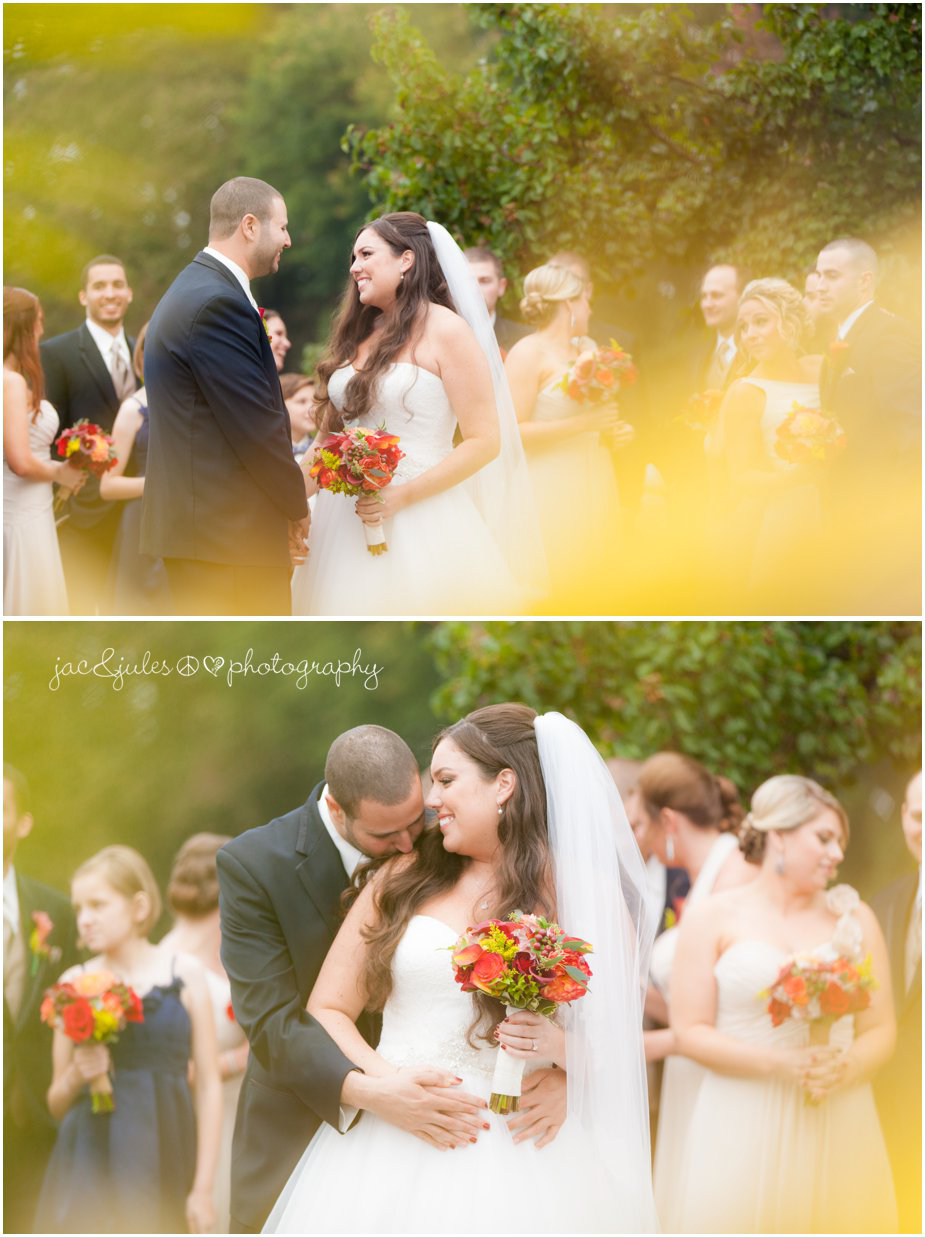 Bride and Groom at Frogbridge in Millville, NJ photographed by JacnJules