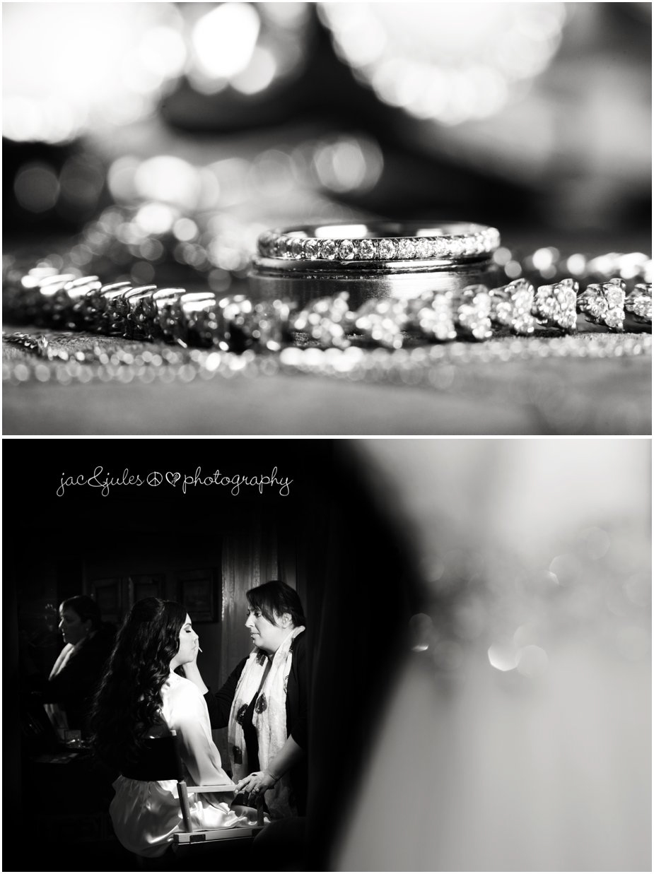 Details shot of wedding rings at Frogbridge in Millville, NJ photographed by JacnJules