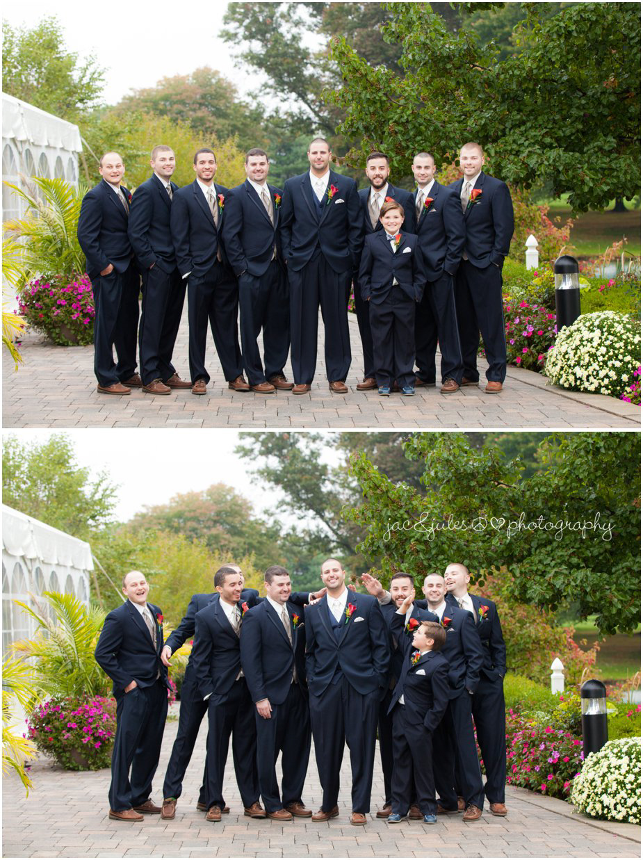 Groom and his groomsmen at Frogbridge in Millville, NJ photographed by JacnJules