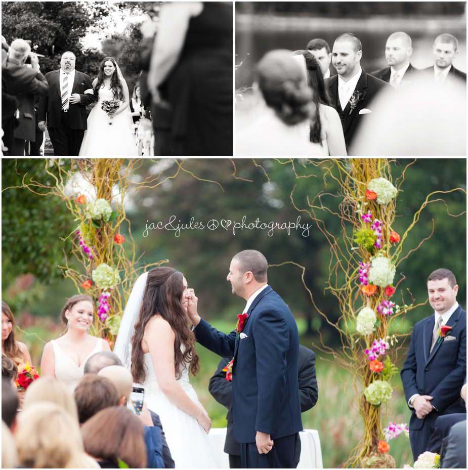 Wedding ceremony and Frogbridge photographed by JacnJules in Millville, NJ