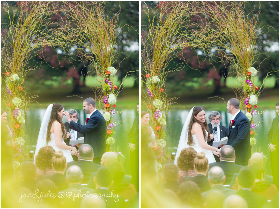 Wedding ceremony at Frogbridge in Millville, NJ by JacnJules