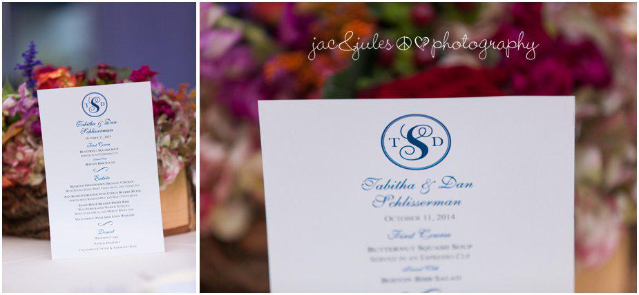 Wedding menu at Frogbridge in Millstone, NJ by JacnJules