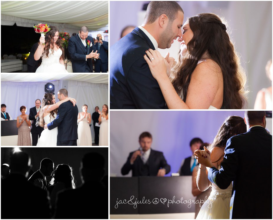 Bride and Groom's first dance at Frogbridge in Millstone, NJ by JacnJules