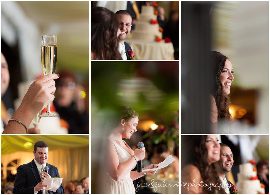 wedding toasts at Frogbridge in Millstone, NJ by JacnJules