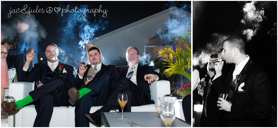 Celebrating with cigars photographed by JacnJules at Frogbridge in Millstone, NJ