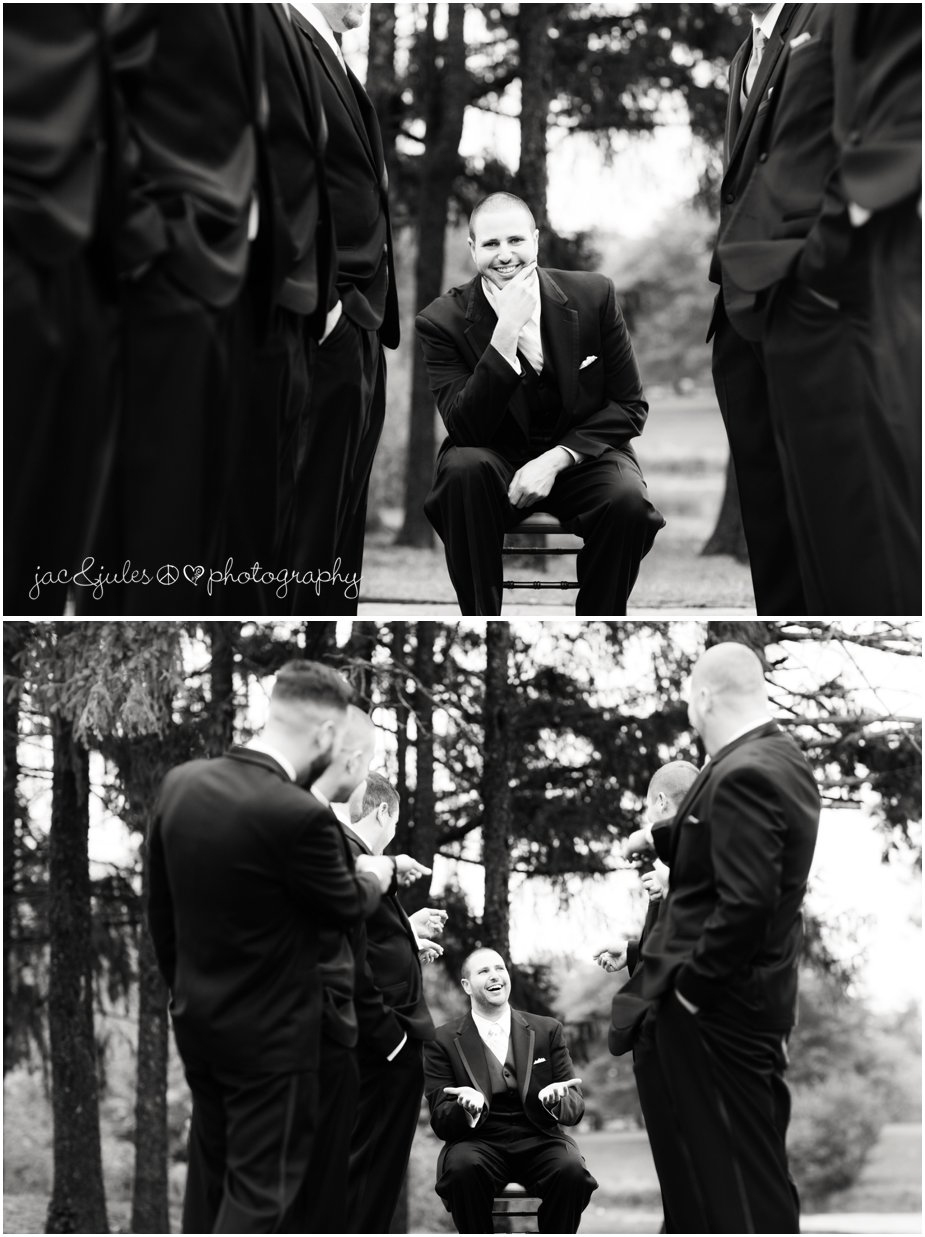 The groom and his groomsmen at Frogbridge in Millville, NJ photographed by JacnJules