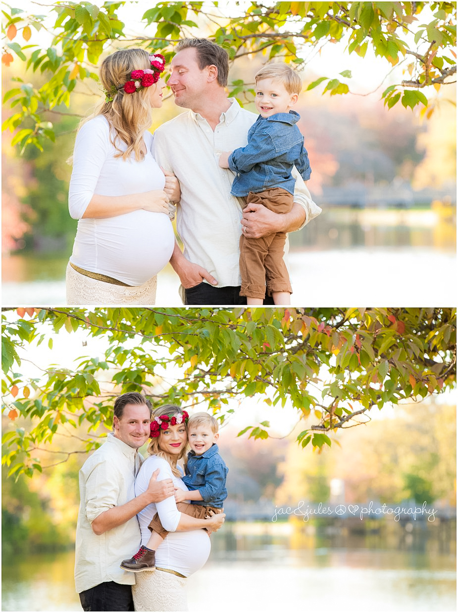 Family maternity photos taken at Spring Lake, NJ by JacnJules
