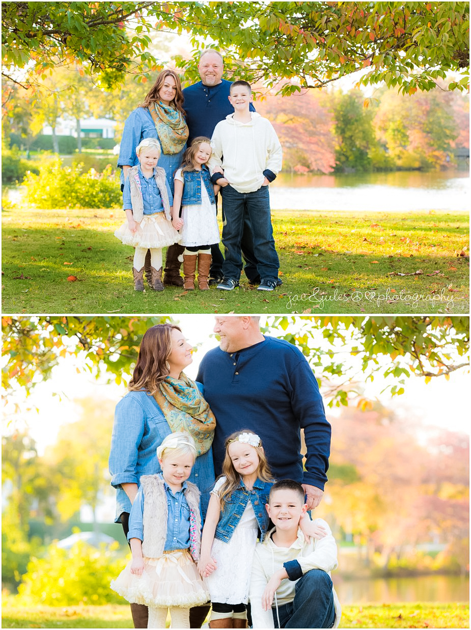 Casual fall family photos at Divine Park in Spring Lake, NJ by JacnJules