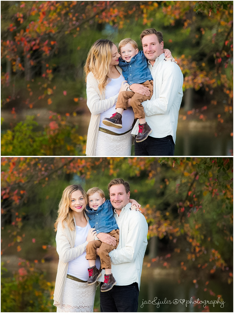 Beautiful family maternity photo taken at Spring Lake in NJ by JacnJules