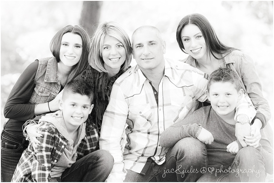 Modern black and white family photo by JacnJules photographed at Divine Park in Spring Lake, NJ