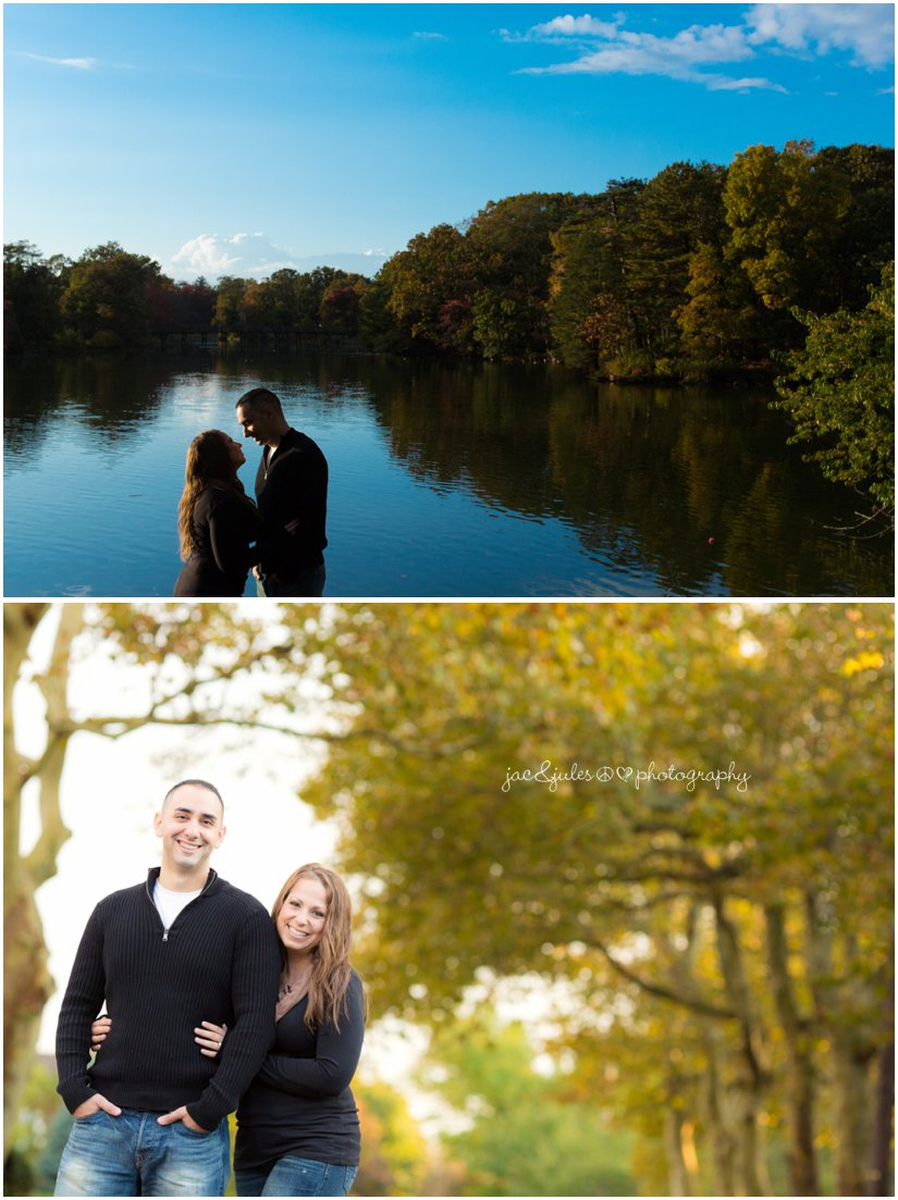 Gorgeous engagement photo taken in front of Spring Lake in NJ by JacnJules