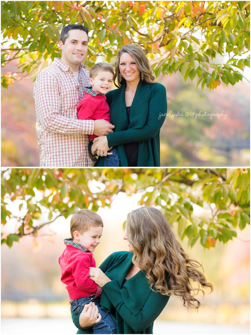 Beautiful fall family photos taken at Divine Park in Spring Lake, NJ by JacnJules