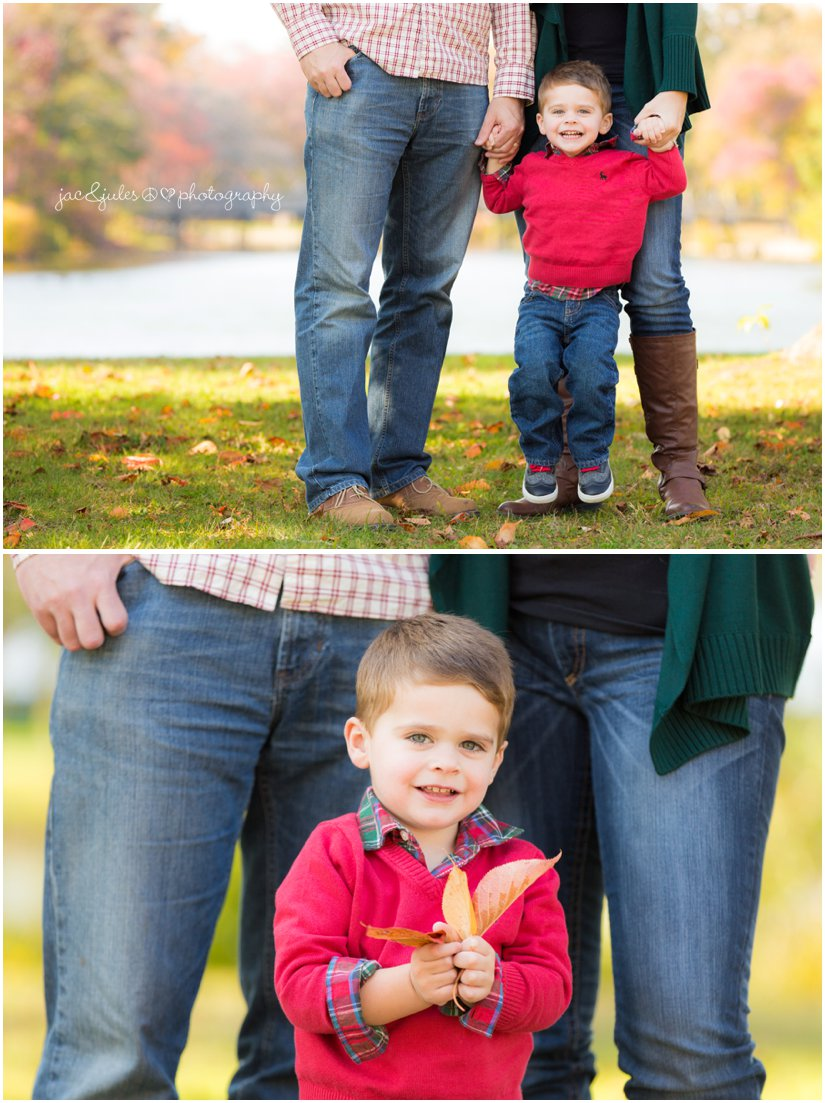 Little boy in fall outfit at Divine Park in Spring Lake, NJ by JacnJules