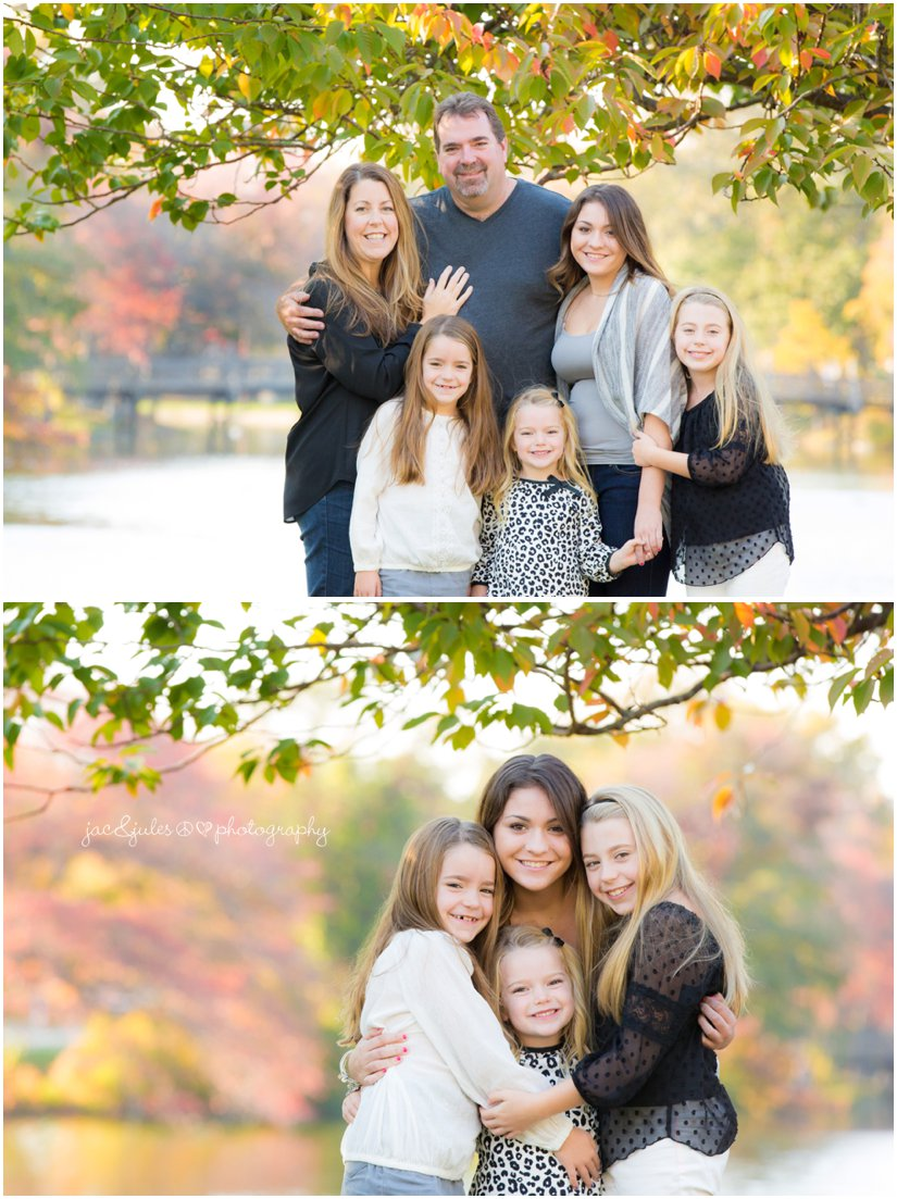 Casual family portrait taken at beautiful Divine Park in Spring Lake, NJ by JacnJules
