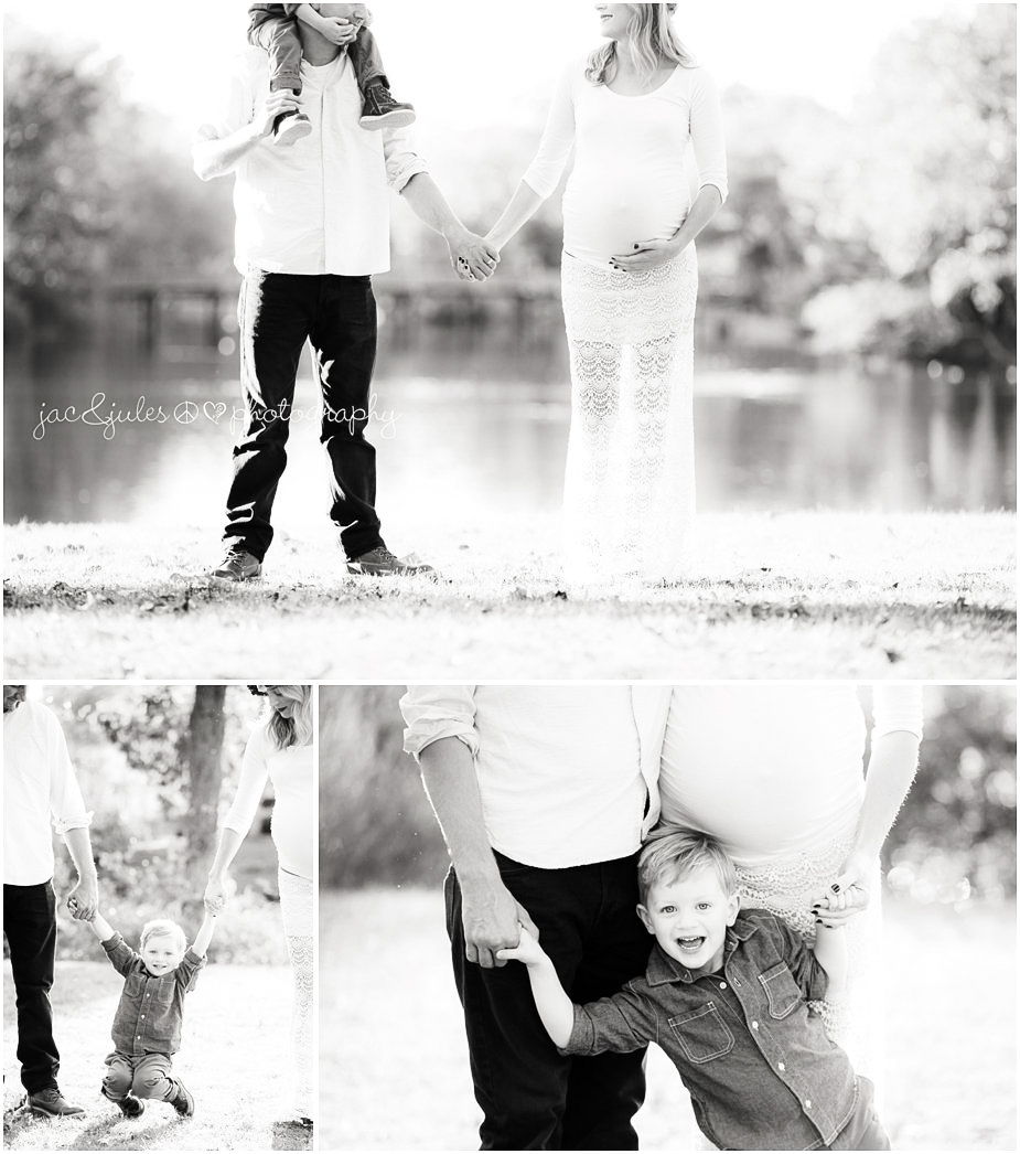 Creative and fun family maternity photos photographed by JacnJules in Spring Lake, NJ
