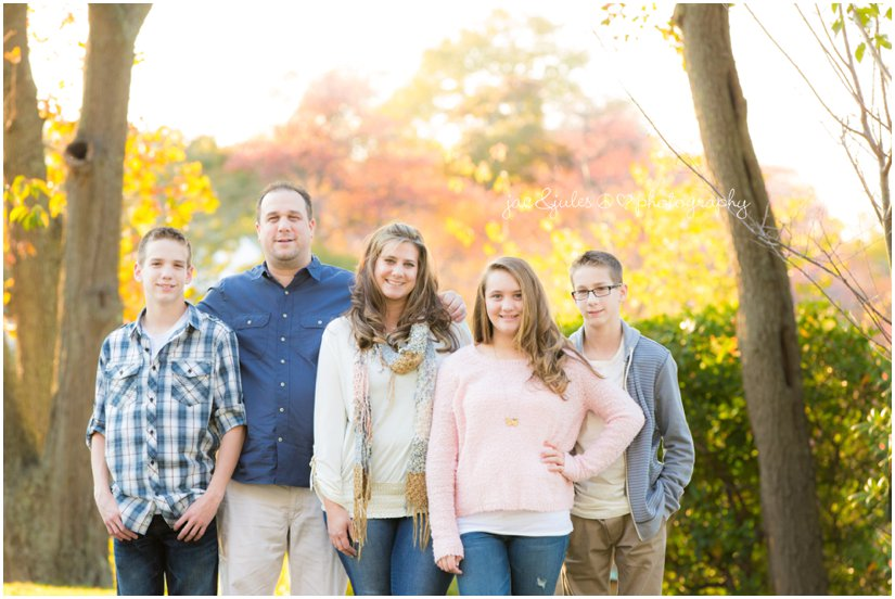 Beautiful fall family photo taken at Divine Park in Spring Lake, NJ by JacnJules