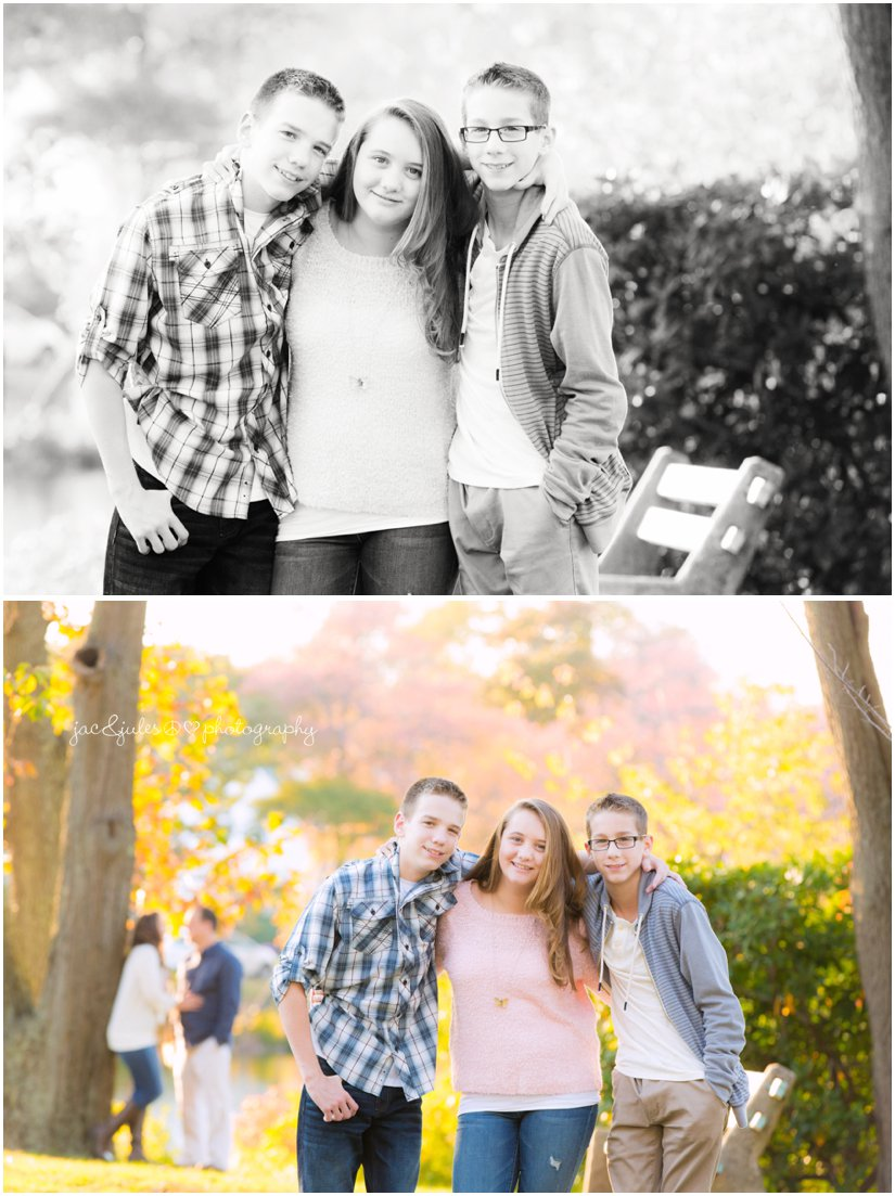 Casual photos of siblings and parents taken by JacnJules at Divine Park in Spring Lake, NJ