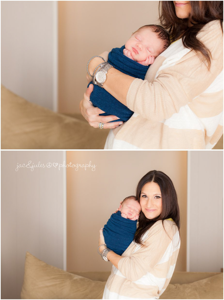 in home natural newborn and mother pictures