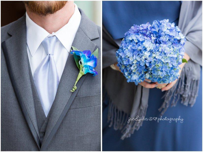 brides maid bouquet and groomsmen boutonnière
