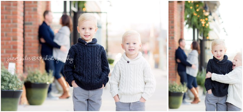 family photos of 2 cute brothers on cookman avenue in Asbury Park, NJ