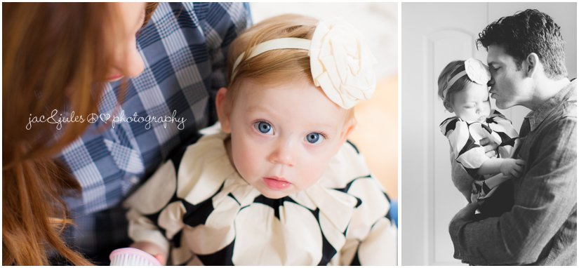 candid photos of 1 year old girl with mom and dad