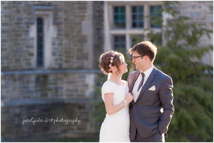 winter wedding at Princeton University