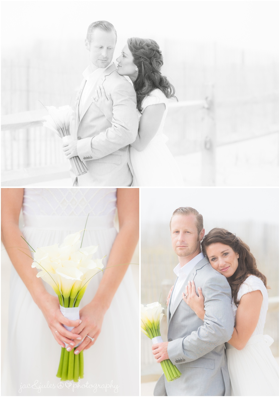 LBI wedding photographer jacnjules photograph bride and groom on the beach