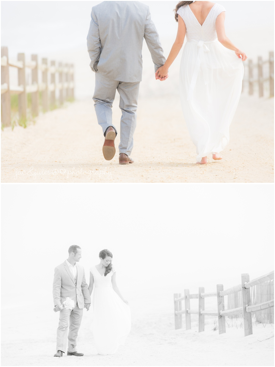 jacnjules photograph the bride and groom on their wedding day in LBI