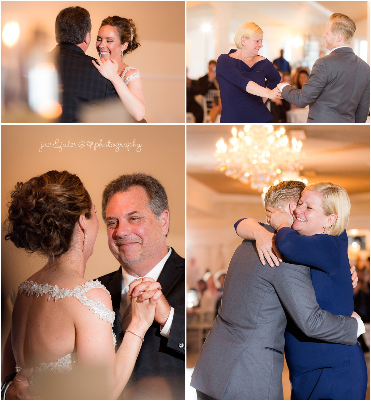 parent dances, father and daughter, mother and son, bride, groom.