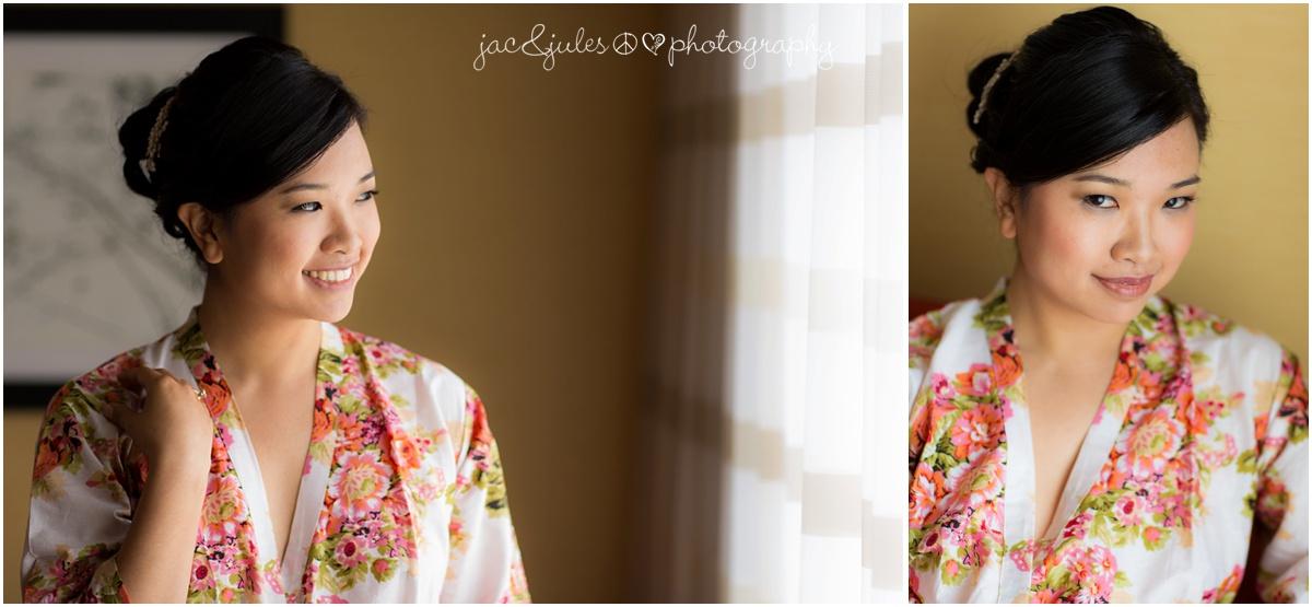 bridal portraits in silk robe