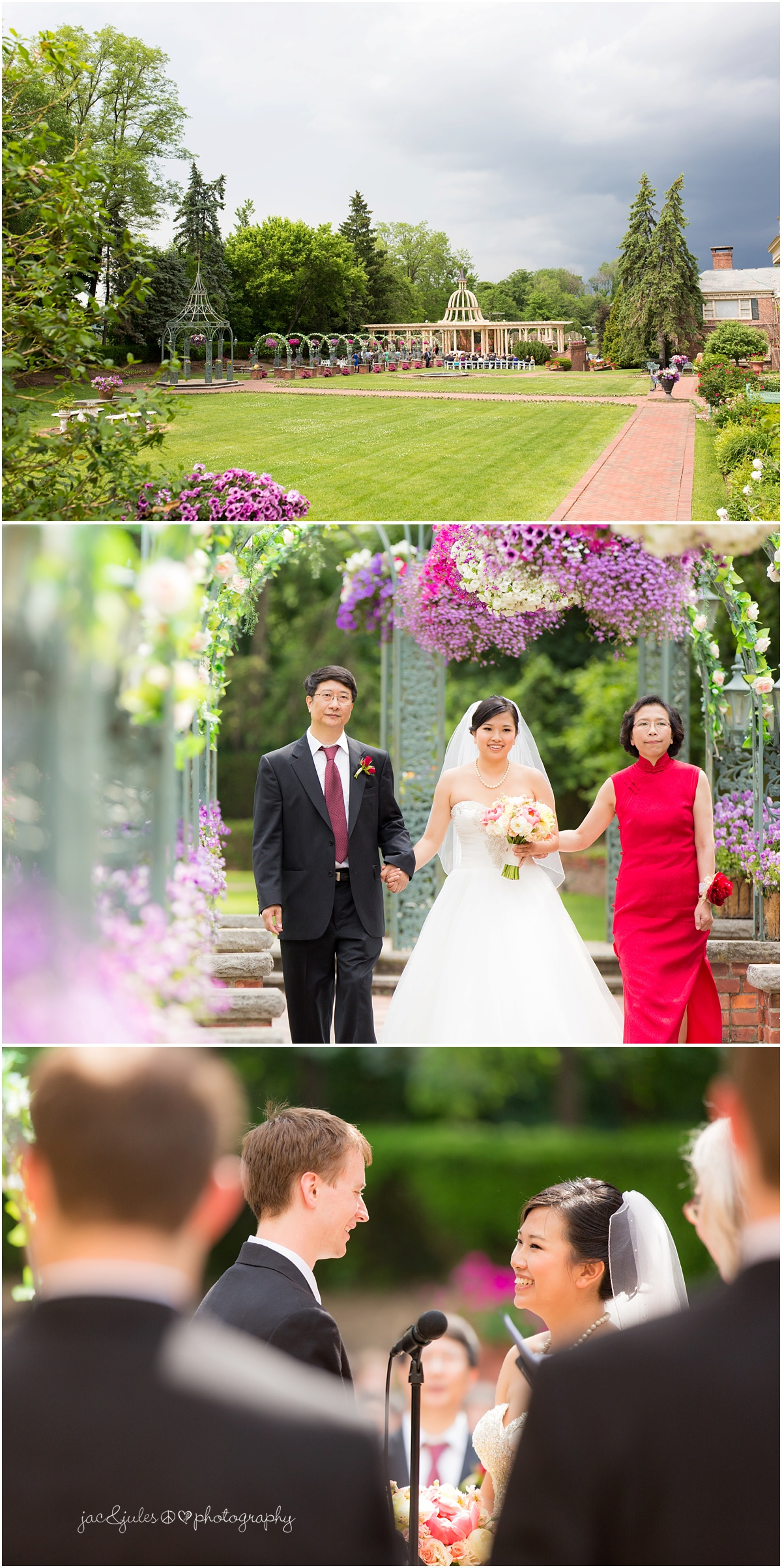 outdoor wedding ceremony at the manor
