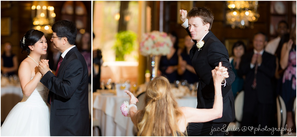 parent dances, mother son, father daughter.