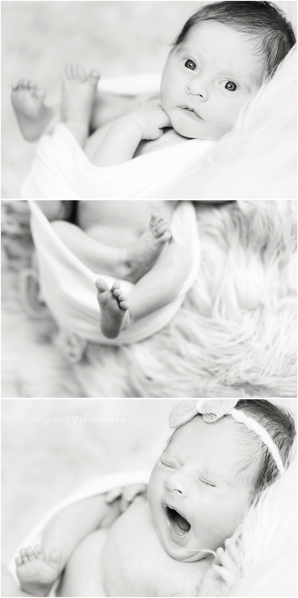 jacnjules photographs newborn baby girl at their home in nj