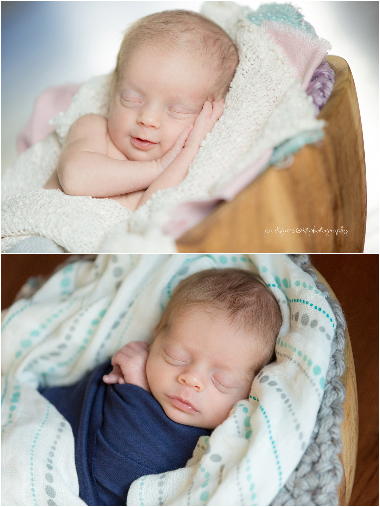 newborn twins and family at their home, boy and girl, teal and pink muslin swaddle blankets (5)