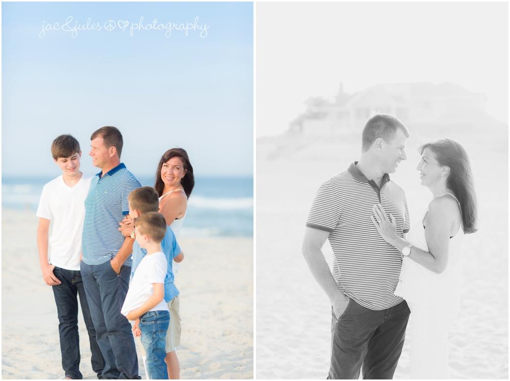 jacnjules photographs a fun family on the beach in LBI (Long Beach Island)