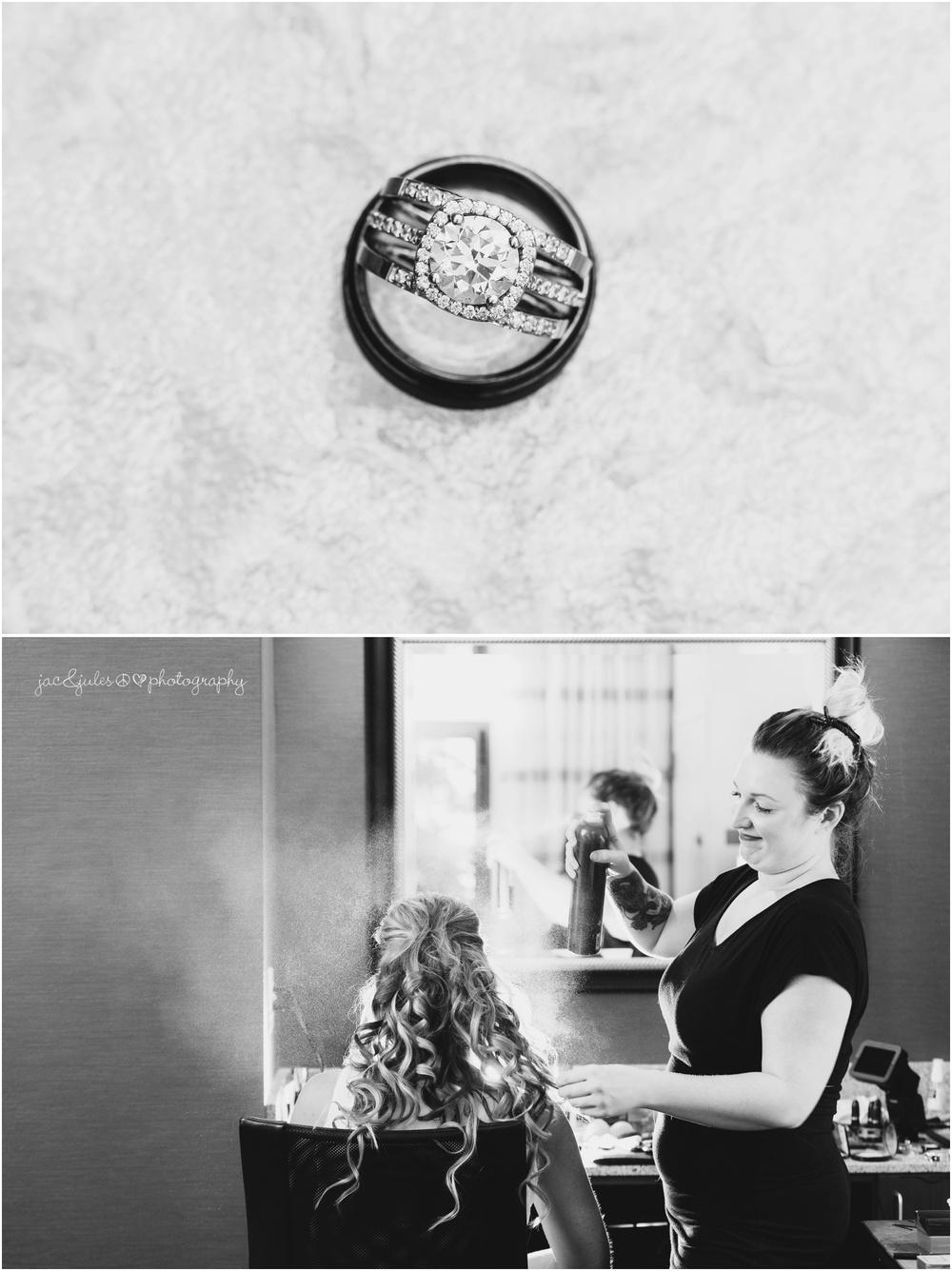 bride prep, wedding rings
